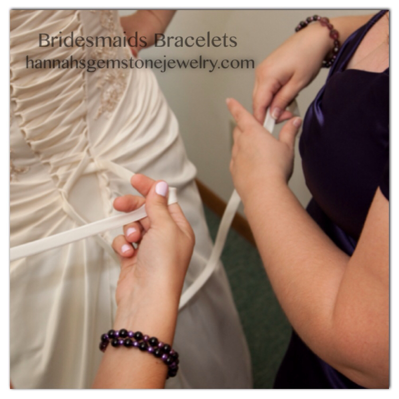 Custom wedding and bridesmade jewelry by Hannah's Gemstone Jewelry
